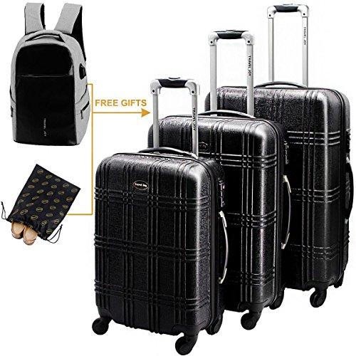Hardshell Luggage Set Hardside Spinner Suitcase Spinner Luggage Travel Luggage Set Carry...