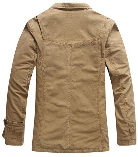 hombre SZYYSD Khaki 8288 para Chaqueta chaqueta qqawUA