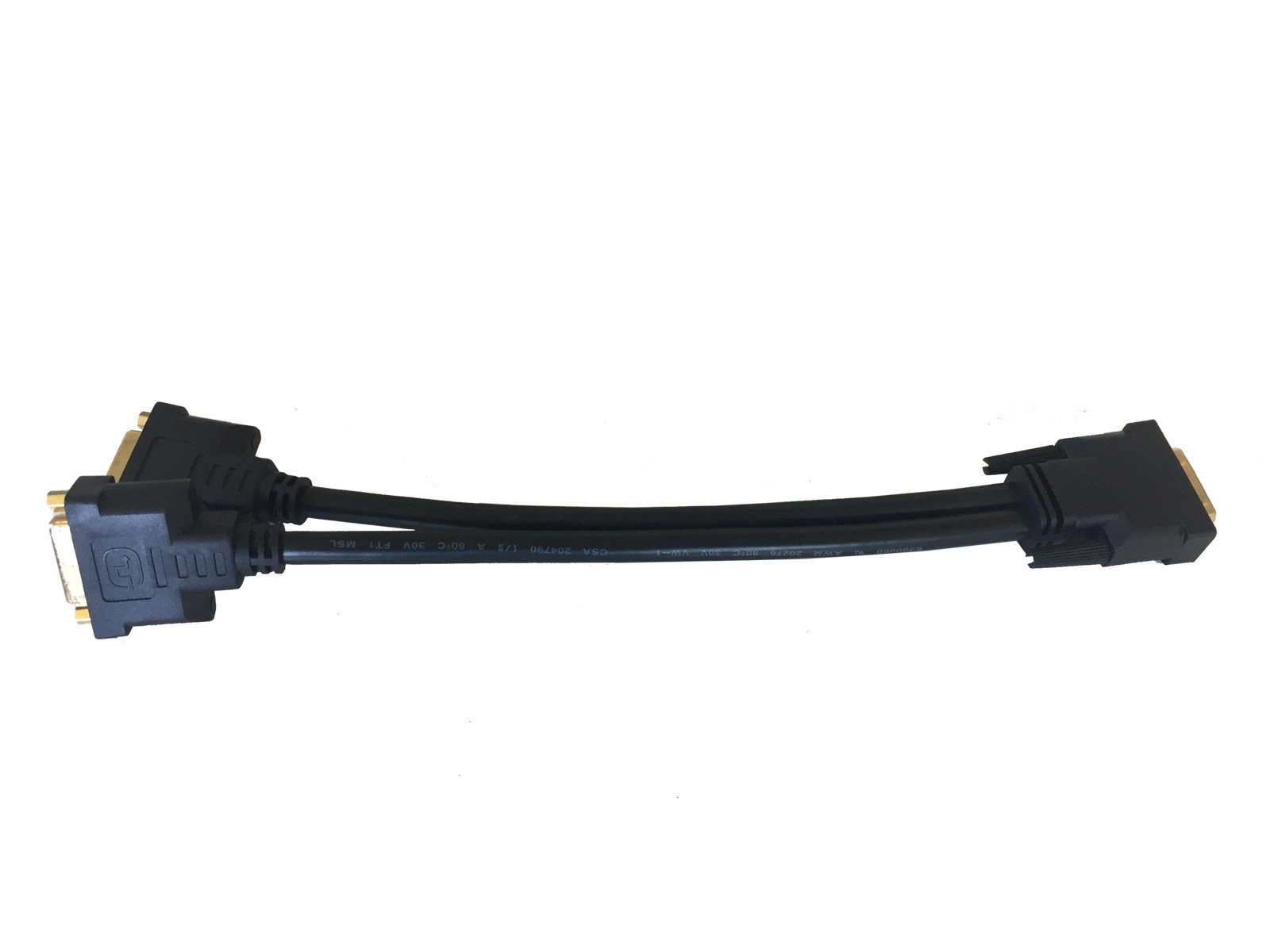 AYA 1Ft (1 Foot) DVI Digital Dual Link Male to 2 DVI-D Female Splitter Cable 28AWG by AYAGROUP