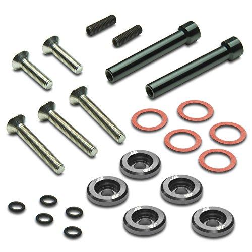(Pack of 5 - J2 Engineering Aluminum Engine Valve Cover Washer+Bolt Kit (Gun Metal) For Honda D-Series)