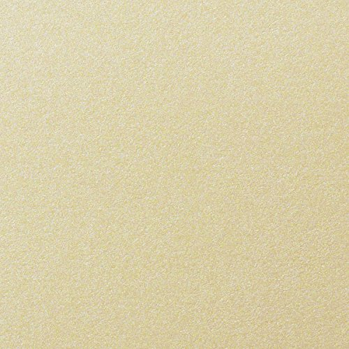 Champagne Cream Shimmery Metallic Cardstock, 8 1/2 x 11 (50 Sheets) from Paper and More