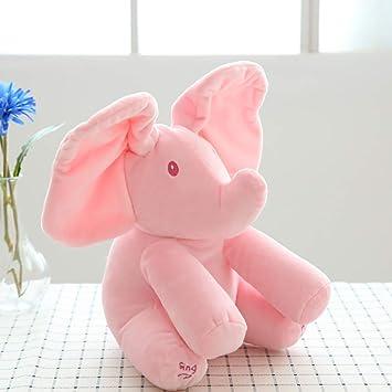 H*Toys Elefante Animado Hablando Cantando Peluche Elefante ...