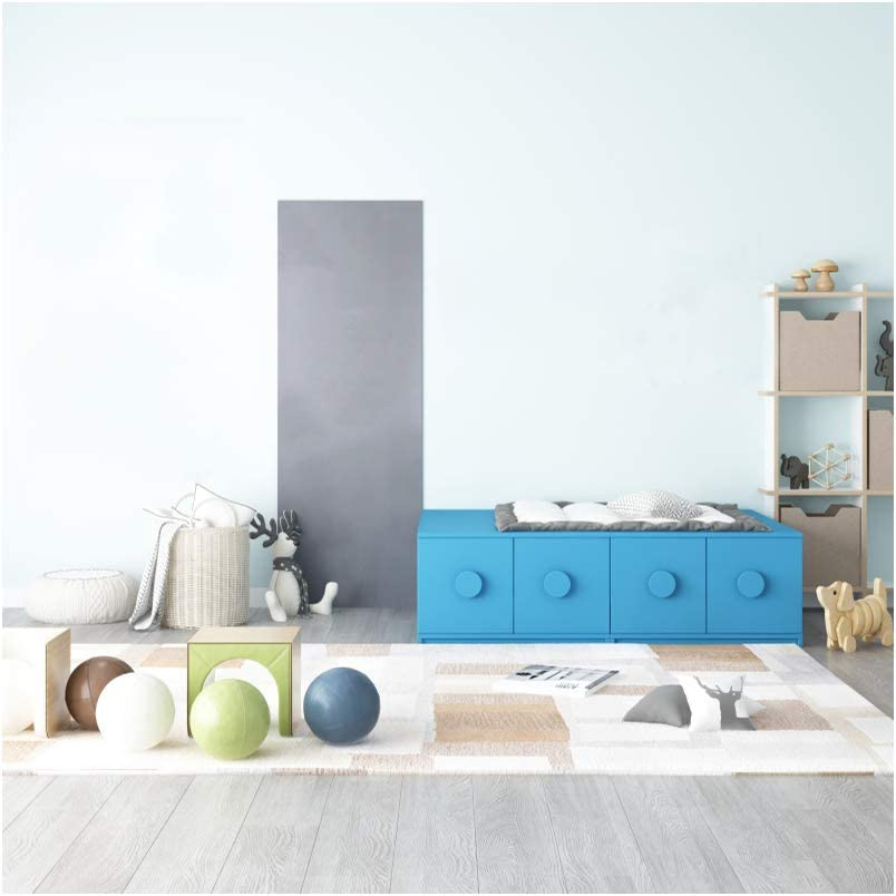YEELE Baby Toys Room Photography Backdrop 9x9ft Modern Living Room Background Simple House and Home Design Cozy Apartment Kids Kindergarten Boys Portrait Photo Studio Props Wallpaper