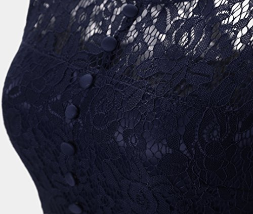 Vickyben - Vestido - para mujer azul marino