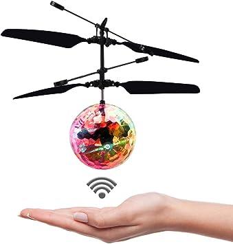 Kisrun Bola voladora, Juguete de inducción con luz LED, Sensor de ...