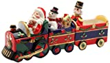 Santa Driving A Christmas Train Magnetic Salt and Pepper Shaker Set