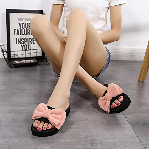Jamicy® Frauen Hausschuhe, Sommer Mode Bowknot Design Indoor Outdoor Casual Slipper Schuhe Rosa