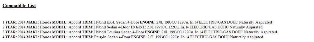 Honda Genuine 82134-T3V-A01 Seat Cushion Heater