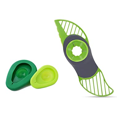3 in 1 Avocado Slicer and Avocado Saver Green Set of 3