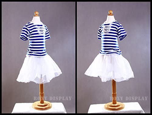 Wooden Base+CAP-C6MN 11C2T-JF w//Hips ROXYDISPLAY/™ New 2 yrs Old Child Dress Form White Jersey Form Cover Fabric