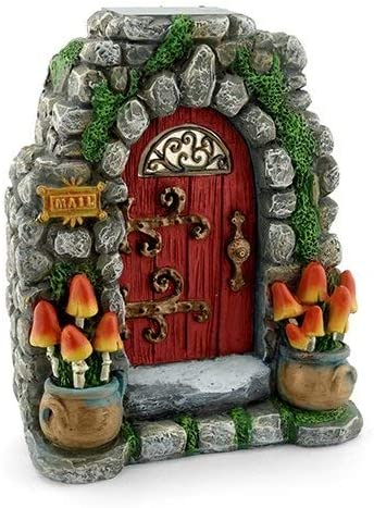 Miniature Fairy Garden Mushroom Meadow Solar Fairy Door