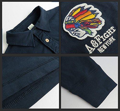(カリホリ) Cali Holi ポロシャツ メンズ 長袖 ゴルフ ボタンダウン 綿100 おおきいサイズ