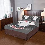 Happy More Custom Poker Face Skull Duvet Cover Sets 3-Pieces Bedding Set