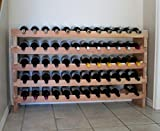 Creekside 60 Bottle Long Scalloped Wine Rack (Redwood) by Creekside - Easily stack multiple units - hardware and assembly free. Hand-sanded to perfection!, Redwood