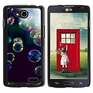 YOYOYO Smartphone Protección Defender Duro Negro Funda Imagen Diseño Carcasa Tapa Case Skin Cover Para LG OPTIMUS L90 D415 - burbujas de color amarillo negro naturaleza púrpura