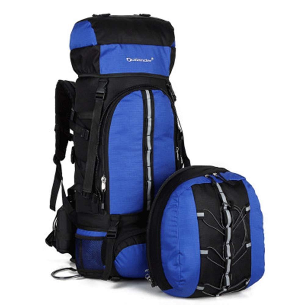 YONGMEI アウトドアバックパック - マザースポーツアウトドアバッグトラベルバックパックポリエステルバックパック (色 : 青, サイズ さいず : 73cm*38cm*20cm) 73cm*38cm*20cm 青 B07QK96GYF