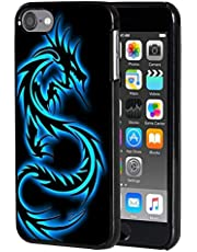iPod Touch 7 Case,Touch 6/5 Case,AIRWEE Slim Back Cover Hard Plastic Protector Case for Apple iPod Touch 5th/6th/7th Generation,Blue Dragon