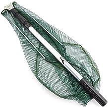 Freehawk® Aluminum Boat fishing folding telescopic landing net Aluminum 3 Section Extending Pole Handle Triangular Brail Durable Folding Fishing Landing Net