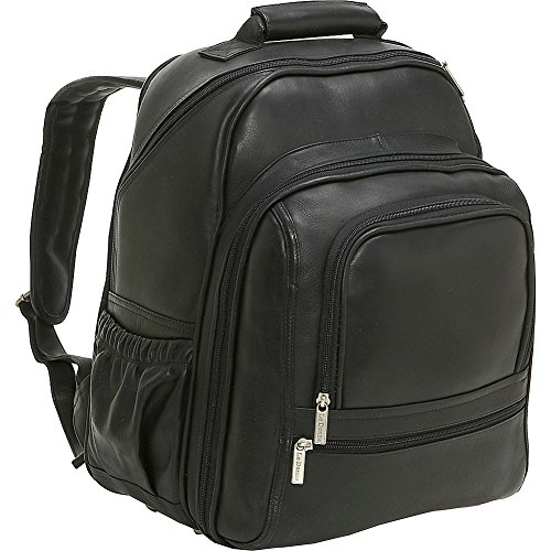 Le Donne Leather Computer Back Pack (Black) by Le Donne Leather