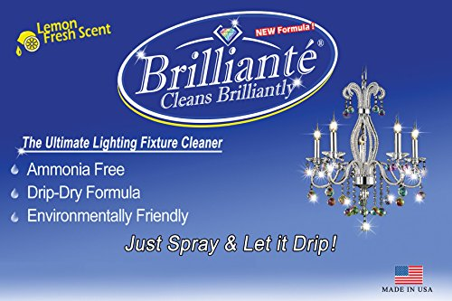 Brilliante Crystal Chandelier Cleaner Manual Sprayer 32oz Environmentally Safe, Ammonia-Free, Drip-Dry Formula, Made in USA (2) by CrystalPlace (Image #3)