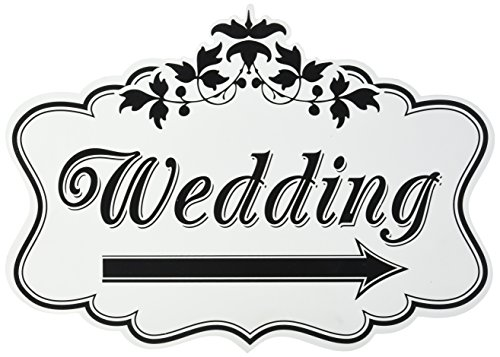 Lillian Rose Wedding Direction Double Sided Sign, 18-Inch by 13-Inch