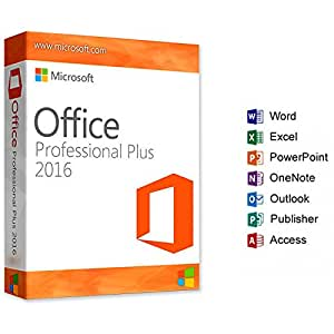 Microsoft Office 2016 Pro Plus Key Clave – Software de Licencia para ordenadores 32/64 Bits, Multilenguaje