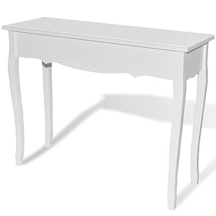 vidaXL Tavolo Consolle da Trucco Bianco Laterale Toletta Tavolino da Salotto