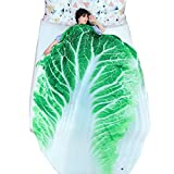 3D Food Funny Blanket Bedding Cabbage Shaped Summer Quilt Cute Comforter Washable Light Quilt