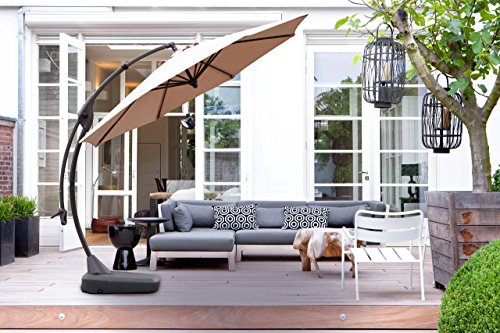 Grand Patio Deluxe 10 Ft Curvy Aluminum Offset Patio