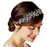 Venusvi wedding headpiece vintage headband for Bride