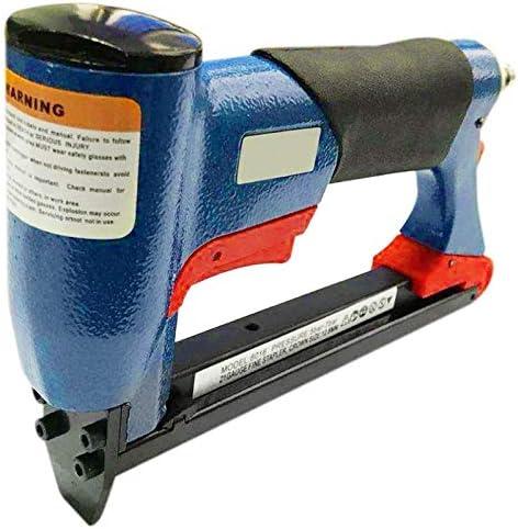 XHUENG Useful 1/2 Inch Pneumatic Air Stapler Nailer Fine Stapler Tool For Furniture Blue Nailer Tool 4-16Mm Woodworking Pneumatic Air Power To (Color : Blue) Blue