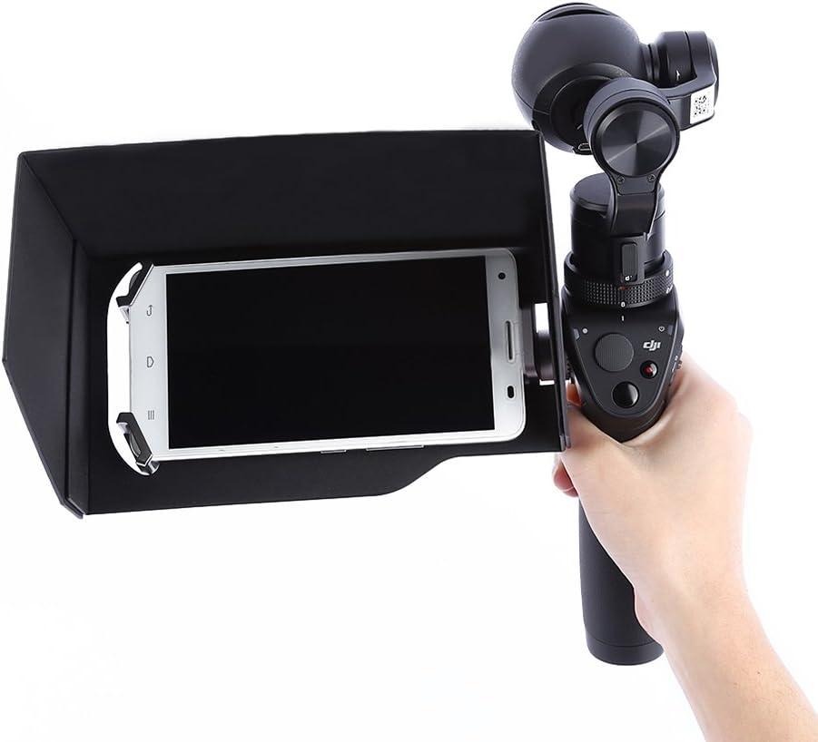 PIXNOR Parasol para Cámara Smartphone Tablet 5,5 Pulgadas DJI Osmo ...