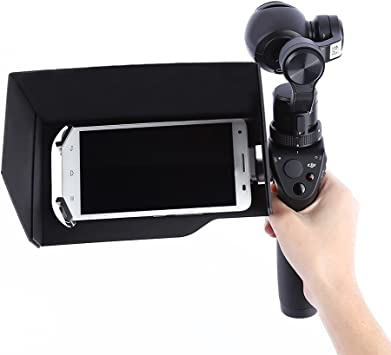 PIXNOR Parasol para Cámara Smartphone Tablet 5,5 Pulgadas DJI ...