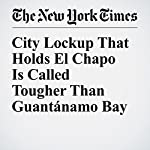 City Lockup That Holds El Chapo Is Called Tougher Than Guantánamo Bay | Joseph Goldstein