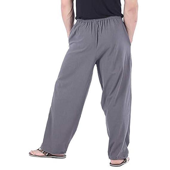 Pantalones de Trabajo de Hombre, Color Puro Pantalón Chandal ...