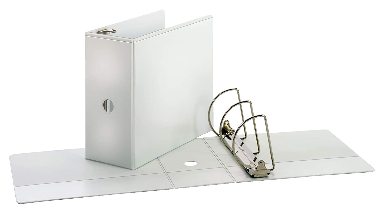PVC-Free White ClearVue Presentation Binder Cardinal Performer 3-Ring Binder 5 1,050-Sheet Capacity Locking Slant-D Rings Nonstick 17950CB