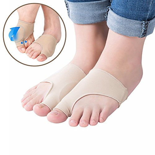 Amazon.com: Bunion Corrector - Hallux Valgus Gel Bunion Protector By Compressx - Pair of Bunion Relief Sleeves for Men size 5 to 13 & Women size 7 to 14 ...