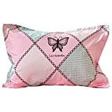 Brandream Kids Bed Pillow Shams Girls Pillowcases Standard Size Pillow Covers 100% Cotton 2Pcs