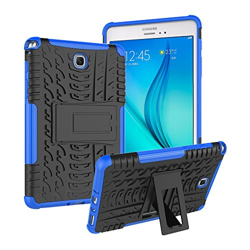 Galaxy Tab A 8.0 Case 2015, SM-T350 Case [Heavy Duty] Rugged Shockproof Soft TPU Full Body Cover with Kickstand Samsung Tablet Protective Case for Samsung Galaxy Tab A 8.0 2015(SM-T350/T355) -Blue