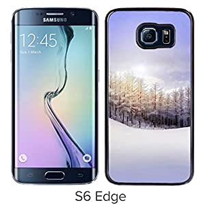Nature Pure Snowy Forest Durable High Quality Samsung Galaxy S6 Edge Case