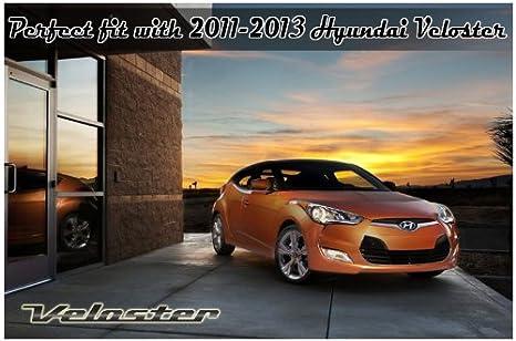 Secuencia trasero techo Trunk borde ala alerón trasero sin pintar 1-PC juego para 2012 2013 Hyundai Veloster non-turbo sólo: Amazon.es: Coche y moto