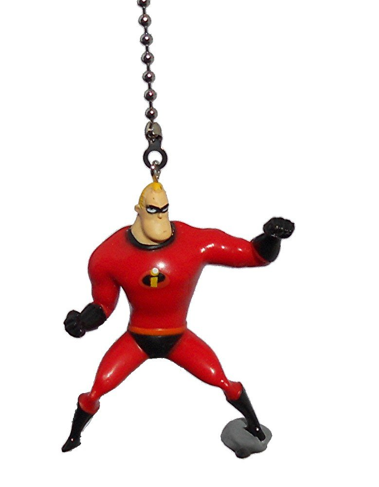 Walt DISNEY Classic Movie assorted Characters CEILING FAN PULL light chain (Mr. Incredible)