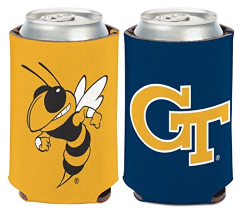 NCAA Georgia Tech University Yellowjackets 1 Pack 12 oz. 2-Sided Can Cooler (Tech Beverage Georgia)