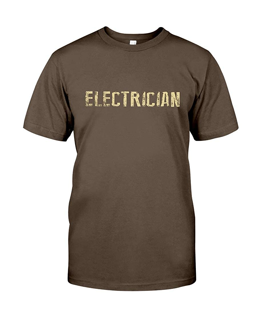 Donna Moritzs Electrician Premium Fit Tee Brown L