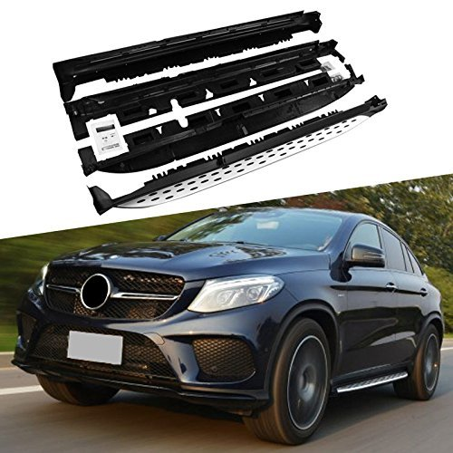 ROKIOTOEX Running Boards for Mercedes Benz C292 GLE-Class Coupe Sport SUV 2015 2016 2017 2018 Side Step Bars - Silver