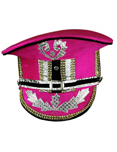 Sunshine Joy Adult Madcap Indian Marching Band Hat Pink Small (Marching Band Halloween Costume)