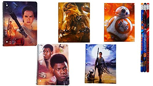 Star Wars Notebooks, Folders, Pencils Back to School Supply Bundle