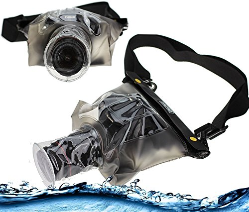 Navitech Black Waterproof Underwater Housing Case / Cover Pouch Dry Bag For TheCanon EOS Rebel T6