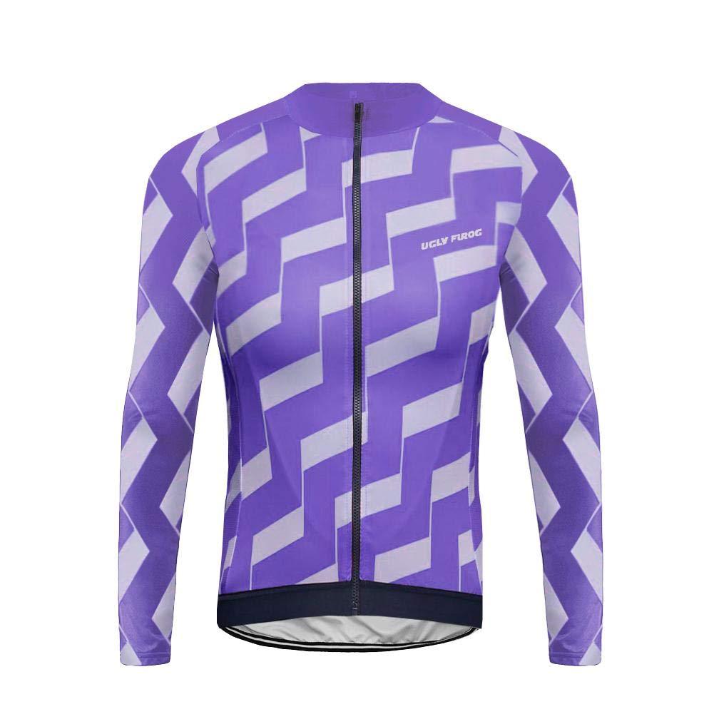 Uglyfrog Frühling/Herbst Männer Radfahren Kleidung Set Fahrrad Anzug Outdoor Langarmtrikot + Riemen Hose Atmungsaktiv Schnell Trocken LSNX08