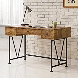 Coaster Furniture Antique Nutmeg Writing Desk with...